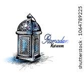 traditional lantern of ramadan  ...   Shutterstock .eps vector #1064789225