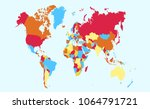 color world map vector   Shutterstock .eps vector #1064791721