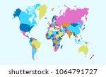 color world map vector | Shutterstock .eps vector #1064791727