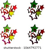 3d vector of square shape with... | Shutterstock .eps vector #1064792771