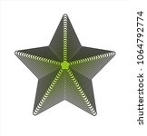 3d vector of square shape with... | Shutterstock .eps vector #1064792774
