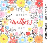 happy mothers day typography... | Shutterstock .eps vector #1064794574