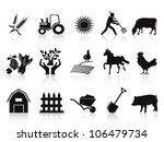 black farm and agriculture... | Shutterstock .eps vector #106479734
