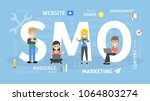 smo concept illustration. idea... | Shutterstock .eps vector #1064803274