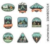 set of summer camp badges.... | Shutterstock .eps vector #1064805314