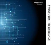 blue technology background | Shutterstock .eps vector #106480619