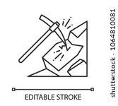 pickaxe breaking mountain... | Shutterstock .eps vector #1064810081