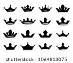 crown icon set vector | Shutterstock .eps vector #1064813075