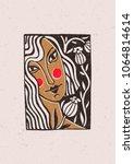 Illustration Depicting A Girl...
