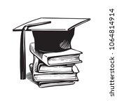 academic graduation cap on... | Shutterstock .eps vector #1064814914