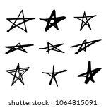 stars doodle black vector... | Shutterstock .eps vector #1064815091