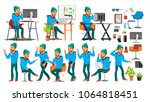 business man character vector.... | Shutterstock .eps vector #1064818451