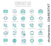 collection of contact us thin... | Shutterstock .eps vector #1064819747