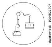 robotic hand manipulator black... | Shutterstock .eps vector #1064821709