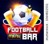 sport football bar menu design... | Shutterstock .eps vector #1064822531