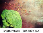 composition with fresh... | Shutterstock . vector #1064825465