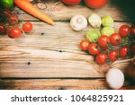 composition with fresh...   Shutterstock . vector #1064825921