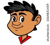 pedro   a vector cartoon... | Shutterstock .eps vector #1064831459