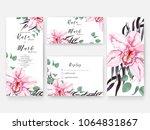 wedding invitation card... | Shutterstock .eps vector #1064831867