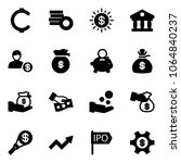 solid vector icon set   cent...
