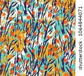 vector floral grunge pattern on ... | Shutterstock .eps vector #1064844071