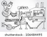 some mechanism hand darwn | Shutterstock .eps vector #106484495