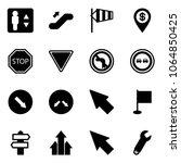 solid vector icon set  ... | Shutterstock .eps vector #1064850425