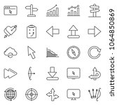 thin line icon set   around the ... | Shutterstock .eps vector #1064850869