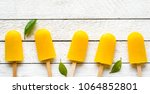 set of popsicles with natural... | Shutterstock . vector #1064852801