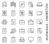thin line icon set   stamp... | Shutterstock .eps vector #1064857154