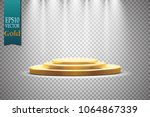 golden podium with a... | Shutterstock .eps vector #1064867339