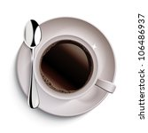 cup of coffee | Shutterstock .eps vector #106486937