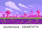 pixel art game location. cute... | Shutterstock .eps vector #1064870774