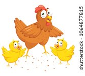vector illustration of chicken... | Shutterstock .eps vector #1064877815