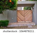elegant modern house entrance... | Shutterstock . vector #1064878211