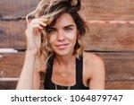 romantic fair haired girl... | Shutterstock . vector #1064879747