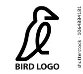 minimalist bold line icon of... | Shutterstock . vector #1064884181