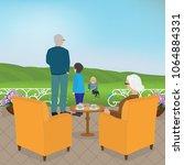 grandpa and grandma with... | Shutterstock .eps vector #1064884331