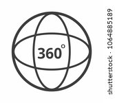 360 degrees angle icon sign...   Shutterstock .eps vector #1064885189