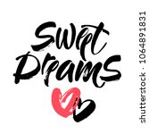 sweet dreams card. hand drawn... | Shutterstock .eps vector #1064891831
