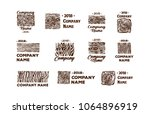 wood and timber texture symbol...   Shutterstock .eps vector #1064896919
