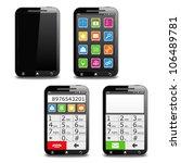 modern black mobile phone ... | Shutterstock .eps vector #106489781