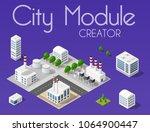 city module creator isometric... | Shutterstock .eps vector #1064900447