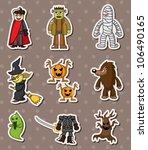 halloween monster sitckers | Shutterstock .eps vector #106490165