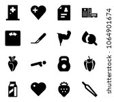 solid vector icon set   first... | Shutterstock .eps vector #1064901674