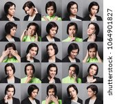 different emotions collage. set ... | Shutterstock . vector #1064901827
