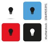 bulb flat vector icon.... | Shutterstock .eps vector #1064905391