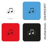 music note on stave flat vector ...   Shutterstock .eps vector #1064905397