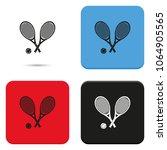 tennis rackets and ball flat... | Shutterstock .eps vector #1064905565