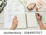 wedding background with... | Shutterstock . vector #1064907017